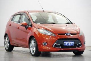 2012 Ford Fiesta WT Zetec PwrShift Chilli Orange 6 Speed Sports Automatic Dual Clutch Hatchback