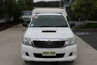 2012 Toyota Hilux KUN16R MY12 Workmate 4x2 White 5 speed Manual Cab Chassis.