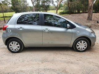 2009 Toyota Yaris NCP90R YR Grey Automatic Hatchback.