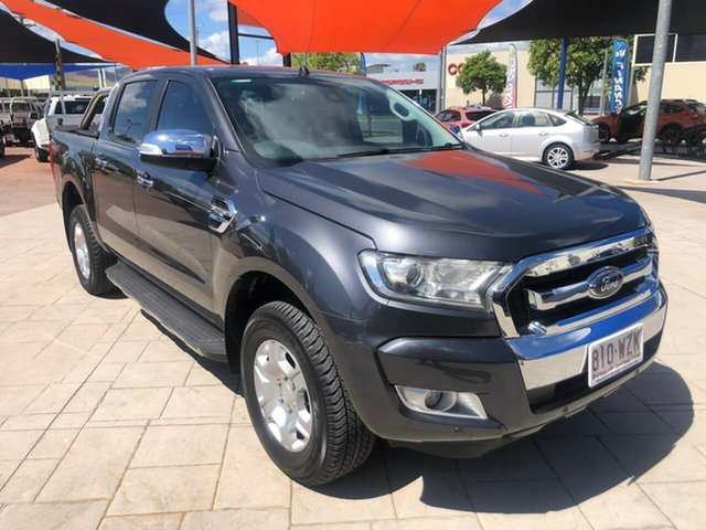 Used Ford Ranger PX MkII XLT Double Cab Mundingburra, 2016 Ford Ranger PX MkII XLT Double Cab Grey 6 Speed Sports Automatic Utility