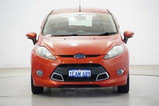 2012 Ford Fiesta WT Zetec PwrShift Chilli Orange 6 Speed Sports Automatic Dual Clutch Hatchback.