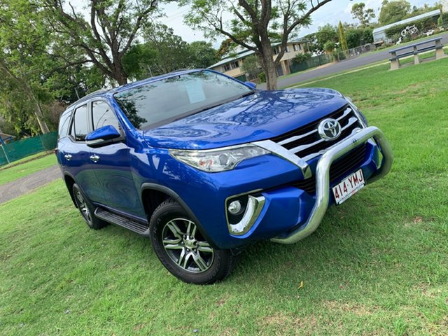 Pre-Owned Toyota Fortuner GUN156R GXL Moree, 2015 Toyota Fortuner GUN156R GXL Nebula Blue 6 Speed Automatic Wagon