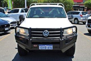 2012 Volkswagen Amarok 2H MY12 TDI400 4Mot Trendline White 6 Speed Manual Cab Chassis.