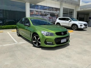 2016 Holden Commodore VF II MY16 SV6 Black Green 6 Speed Sports Automatic Sedan.