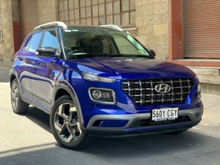 2020 Hyundai Venue QX.2 MY20 Elite Intense Blue 6 Speed Automatic Wagon