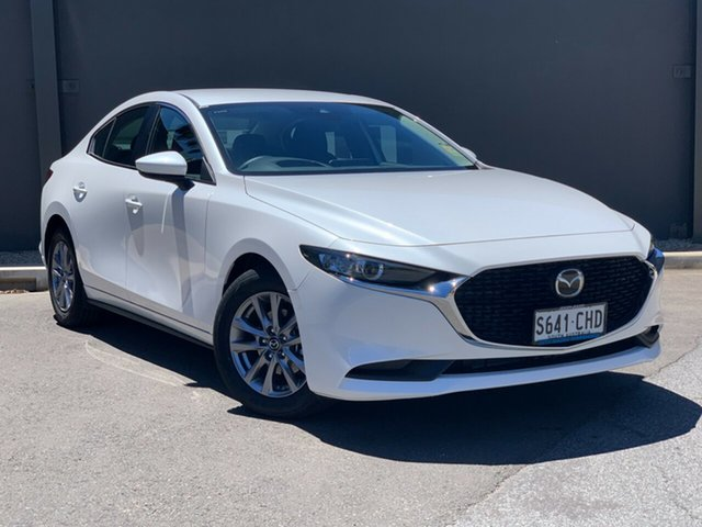 Demo Mazda 3 BP2S7A G20 SKYACTIV-Drive Pure Hindmarsh, 2020 Mazda 3 BP2S7A G20 SKYACTIV-Drive Pure Snowflake White 6 Speed Sports Automatic Sedan