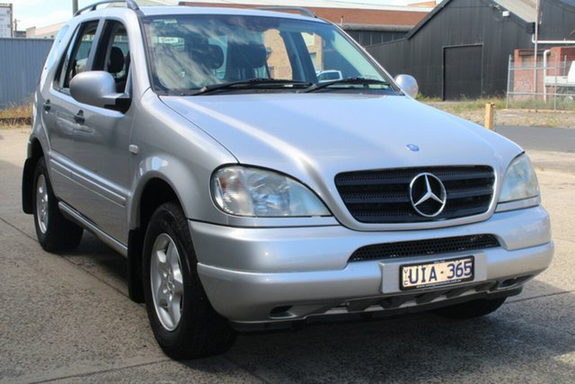 Used Mercedes-Benz ML320 Luxury (4x4) West Footscray, 2001 Mercedes-Benz ML320 Luxury (4x4) Silver 5 Speed Auto Tipshift Wagon