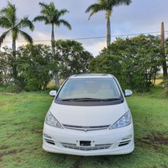 2004 Toyota Tarago ACR30R MY03 Ultima White Pearl 4 Speed Automatic Wagon.