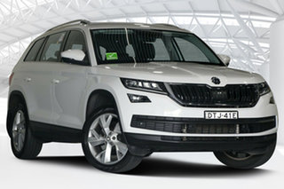2017 Skoda Kodiaq NS MY18 132 TSI (4x4) White 7 Speed Auto Direct Shift Wagon.