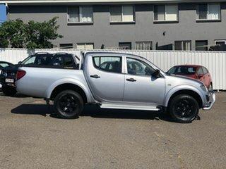 2012 Mitsubishi Triton MN MY13 GLX Double Cab 4x2 Silver 5 Speed Manual Utility.
