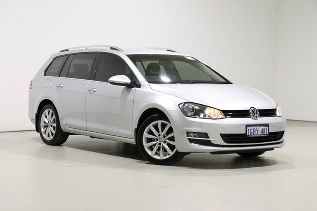 Used Volkswagen Golf AU MY16 110 TDI Highline Bentley, 2016 Volkswagen Golf AU MY16 110 TDI Highline Silver 6 Speed Direct Shift Wagon