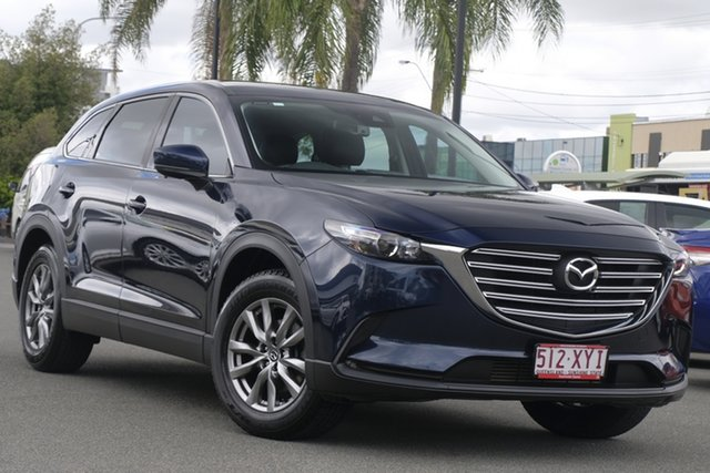 Pre-Owned Mazda CX-9 TC Touring SKYACTIV-Drive Upper Mount Gravatt, 2018 Mazda CX-9 TC Touring SKYACTIV-Drive Blue 6 Speed Sports Automatic Wagon