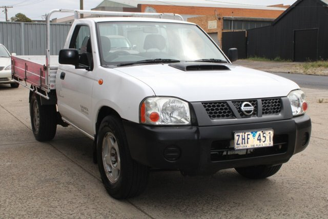 Used Nissan Navara D22 MY08 DX (4x2) West Footscray, 2009 Nissan Navara D22 MY08 DX (4x2) 5 Speed Manual Cab Chassis