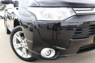 2013 Mitsubishi Outlander ZJ MY14 Aspire (4x4) Black Continuous Variable Wagon.