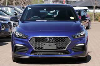 2020 Hyundai i30 PD.V4 MY21 N Line Premium Intense Blue 7 Speed Auto Dual Clutch Hatchback