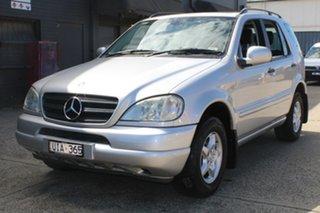2001 Mercedes-Benz ML320 Luxury (4x4) Silver 5 Speed Auto Tipshift Wagon.