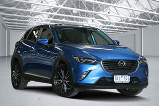 2017 Mazda CX-3 DK Akari (FWD) Blue 6 Speed Manual Wagon.