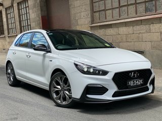 2020 Hyundai i30 PD.3 MY20 N Line D-CT Premium Polar White 7 Speed Automatic Hatchback.