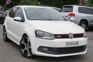 2013 Volkswagen Polo 6R MY13.5 GTI DSG White 7 Speed Sports Automatic Dual Clutch Hatchback.