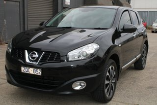 2013 Nissan Dualis J10 Series 3 TI-L (4x2) Black 6 Speed CVT Auto Sequential Wagon.
