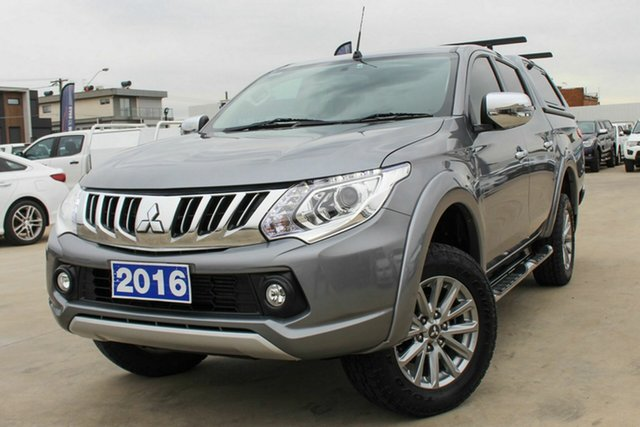Used Mitsubishi Triton MQ MY16 GLS Double Cab Coburg North, 2016 Mitsubishi Triton MQ MY16 GLS Double Cab Grey 5 Speed Sports Automatic Utility