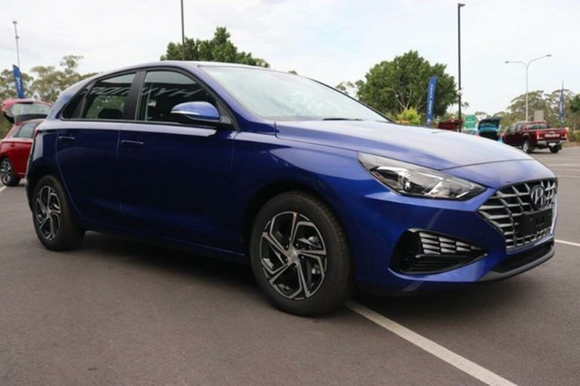 New Hyundai i30 PD.V4 MY21 Mount Gravatt, 2020 Hyundai i30 PD.V4 MY21 Intense Blue 6 Speed Sports Automatic Hatchback