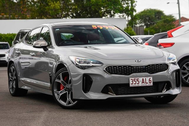 Used Kia Stinger CK MY20 GT Fastback Mount Gravatt, 2019 Kia Stinger CK MY20 GT Fastback Ceramic Grey 8 Speed Sports Automatic Sedan