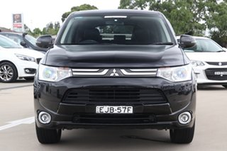 2013 Mitsubishi Outlander ZJ MY14 Aspire (4x4) Black Continuous Variable Wagon