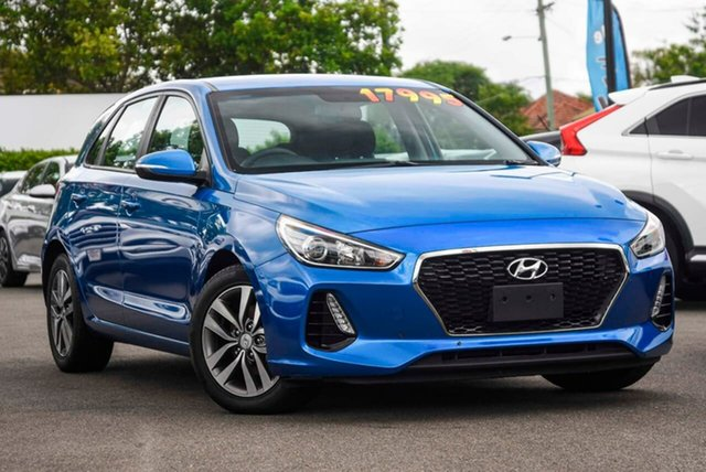 Used Hyundai i30 PD MY18 Active Mount Gravatt, 2017 Hyundai i30 PD MY18 Active Blue 6 Speed Sports Automatic Hatchback