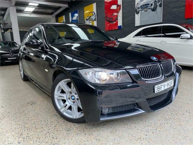 Used BMW 323i E90 323i Glebe, 2008 BMW 323i E90 323i Black Sapphire Sports Automatic Sedan