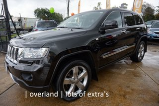 2012 Jeep Grand Cherokee WK MY2013 Overland Brilliant Black 6 Speed Sports Automatic Wagon.