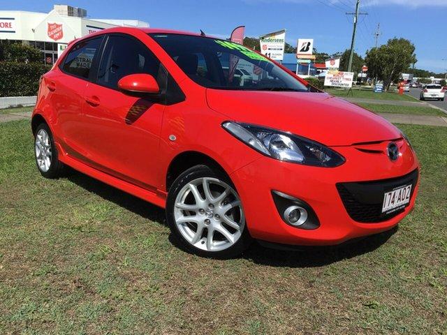 Used Mazda 2 DE10Y1 MY11 Genki Caloundra, 2011 Mazda 2 DE10Y1 MY11 Genki Red 4 Speed Automatic Hatchback