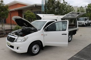2012 Toyota Hilux KUN16R MY12 Workmate 4x2 White 5 speed Manual Cab Chassis