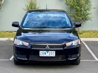 2009 Mitsubishi Lancer CJ MY10 ES Sportback Black 6 Speed Constant Variable Hatchback.