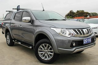 2016 Mitsubishi Triton MQ MY16 GLS Double Cab Grey 5 Speed Sports Automatic Utility