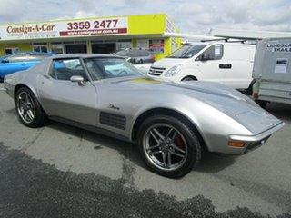 1972 Chevrolet Corvette STING RAY Stingray Silver 4 Speed Automatic Coupe.