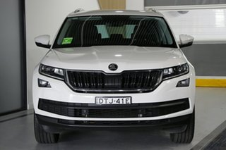 2017 Skoda Kodiaq NS MY18 132 TSI (4x4) White 7 Speed Auto Direct Shift Wagon
