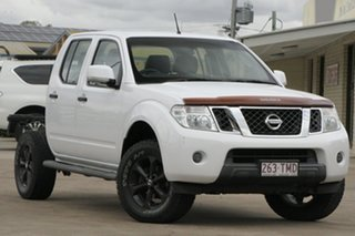 2013 Nissan Navara D40 S6 MY12 ST White 6 Speed Manual Utility.