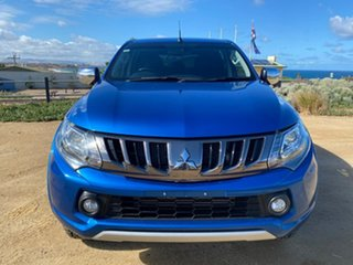 2017 Mitsubishi Triton MQ MY18 Exceed Double Cab Blue 5 Speed Sports Automatic Utility