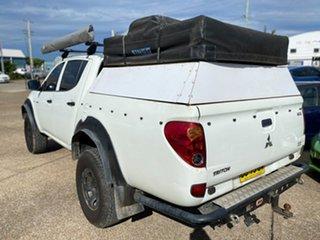 2011 Mitsubishi Triton MN MY12 GLX Double Cab 4x2 White 5 Speed Manual Utility.