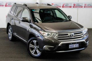 2012 Toyota Kluger GSU40R MY11 Upgrade KX-S (FWD) Graphite 5 Speed Automatic Wagon.