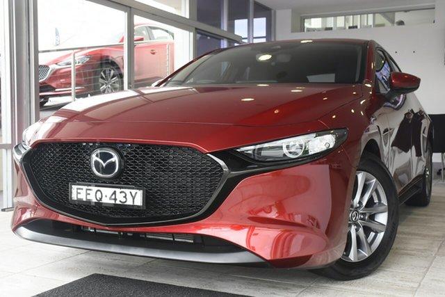 Used Mazda 3 BP2H76 G20 SKYACTIV-MT Pure Wollongong, 2019 Mazda 3 BP2H76 G20 SKYACTIV-MT Pure Red 6 Speed Manual Hatchback