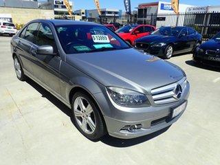 2009 Mercedes-Benz C-Class W204 C200 Kompressor Avantgarde Grey Mist 5 Speed Sports Automatic Sedan.