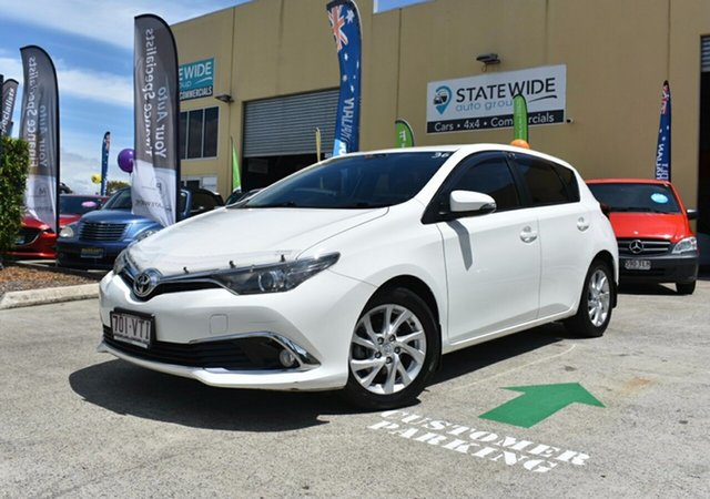 Used Toyota Corolla ZRE182R Ascent Sport Capalaba, 2015 Toyota Corolla ZRE182R Ascent Sport White 6 Speed Manual Hatchback
