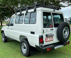 2011 Toyota Landcruiser VDJ78R MY10 Workmate Troopcarrier White 5 Speed Manual Wagon