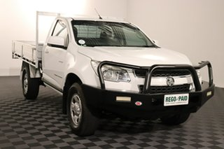 2014 Holden Colorado RG MY14 LX White 6 speed Manual Cab Chassis.