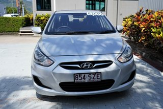 2013 Hyundai Accent RB Active Silver 5 Speed Manual Sedan.