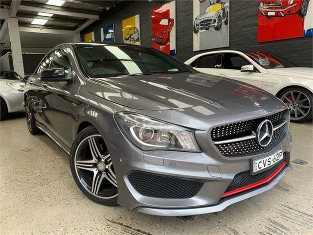 Used Mercedes-Benz CLA-Class C117 Glebe, 2014 Mercedes-Benz CLA-Class C117 CLA250 Sport Grey Sports Automatic Dual Clutch Coupe