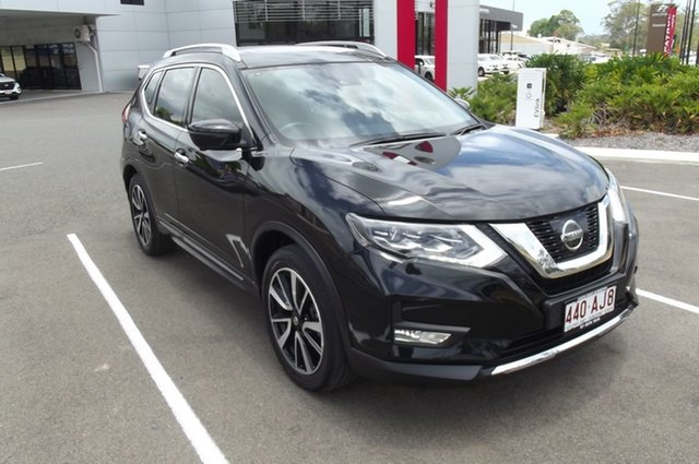 Used Nissan X-Trail T32 Series II Ti X-tronic 4WD South Gladstone, 2017 Nissan X-Trail T32 Series II Ti X-tronic 4WD Black 7 Speed Constant Variable Wagon