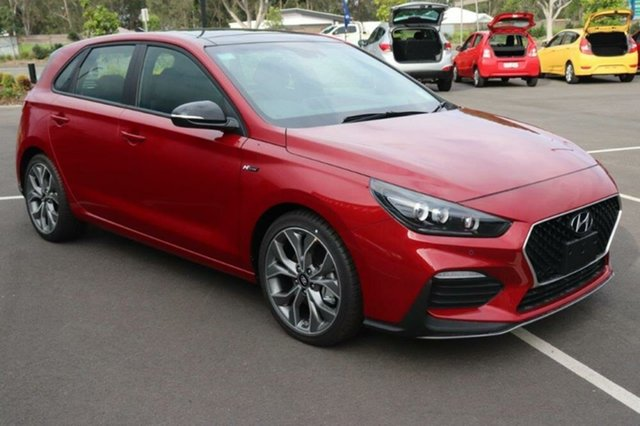New Hyundai i30 PD.V4 MY21 N Line D-CT Premium Mount Gravatt, 2020 Hyundai i30 PD.V4 MY21 N Line D-CT Premium Fiery Red 7 Speed Sports Automatic Dual Clutch